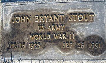 STOUT, JOHN BRYANT - Mohave County, Arizona | JOHN BRYANT STOUT - Arizona Gravestone Photos
