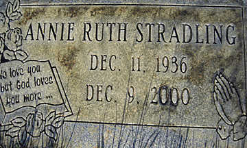 STRADLING, ANNIE RUTH - Mohave County, Arizona | ANNIE RUTH STRADLING - Arizona Gravestone Photos