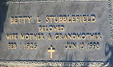STUBBLEFIELD, BETTY L - Mohave County, Arizona | BETTY L STUBBLEFIELD - Arizona Gravestone Photos
