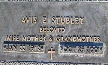 STUBLEY, AVIS E - Mohave County, Arizona | AVIS E STUBLEY - Arizona Gravestone Photos