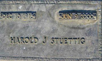 STUETTIG, HAROLD J - Mohave County, Arizona | HAROLD J STUETTIG - Arizona Gravestone Photos