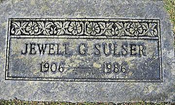 SULSER, JEWELL G - Mohave County, Arizona | JEWELL G SULSER - Arizona Gravestone Photos