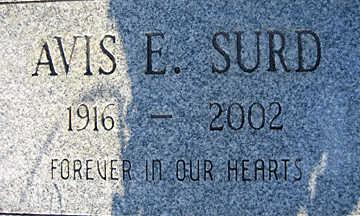 SURD, AVIS E - Mohave County, Arizona | AVIS E SURD - Arizona Gravestone Photos