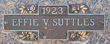 SUTTLES, EFFIE V - Mohave County, Arizona | EFFIE V SUTTLES - Arizona Gravestone Photos