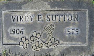 SUTTON, VIRDY EDNA - Mohave County, Arizona | VIRDY EDNA SUTTON - Arizona Gravestone Photos