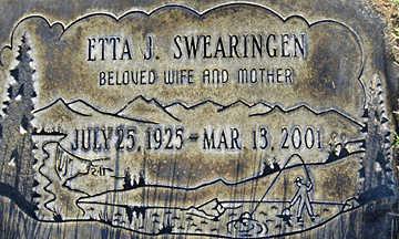 SWEARINGEN, ETTA J - Mohave County, Arizona   ETTA J SWEARINGEN - Arizona Gravestone Photos