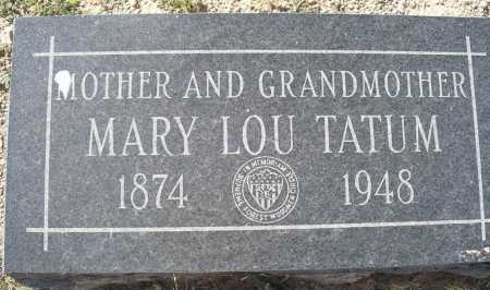 BROWN TATUM, MARY LOU - Mohave County, Arizona   MARY LOU BROWN TATUM - Arizona Gravestone Photos
