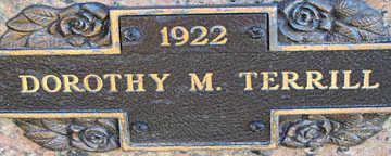 TERRILL, DOROTHY M - Mohave County, Arizona | DOROTHY M TERRILL - Arizona Gravestone Photos