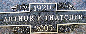 THATCHER, ARTHUR E - Mohave County, Arizona | ARTHUR E THATCHER - Arizona Gravestone Photos