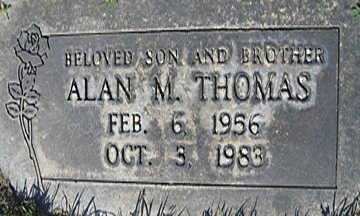 THOMAS, ALAN M - Mohave County, Arizona | ALAN M THOMAS - Arizona Gravestone Photos