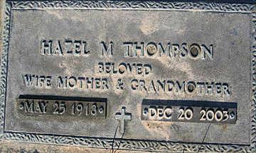 THOMPSON, HAZEL M - Mohave County, Arizona   HAZEL M THOMPSON - Arizona Gravestone Photos