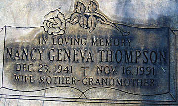 THOMPSON, NANCY GENEVA - Mohave County, Arizona | NANCY GENEVA THOMPSON - Arizona Gravestone Photos