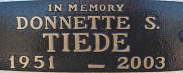 TIEDE, DONNETTE S - Mohave County, Arizona | DONNETTE S TIEDE - Arizona Gravestone Photos