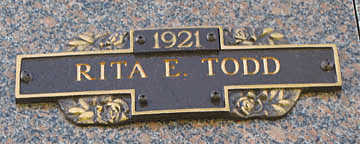 TODD, RITA E - Mohave County, Arizona   RITA E TODD - Arizona Gravestone Photos