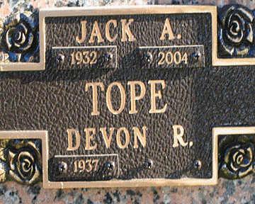 TOPE, JACK A - Mohave County, Arizona | JACK A TOPE - Arizona Gravestone Photos