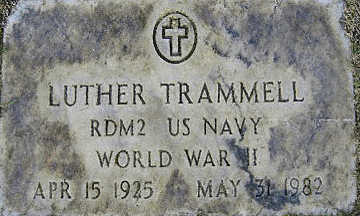 TRAMMELL, LUTHER - Mohave County, Arizona | LUTHER TRAMMELL - Arizona Gravestone Photos