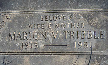 TRIBBLE, MARION V - Mohave County, Arizona | MARION V TRIBBLE - Arizona Gravestone Photos