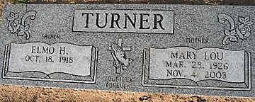 TURNER, ELMO H - Mohave County, Arizona   ELMO H TURNER - Arizona Gravestone Photos