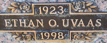 UVAAS, ETHAN O - Mohave County, Arizona | ETHAN O UVAAS - Arizona Gravestone Photos