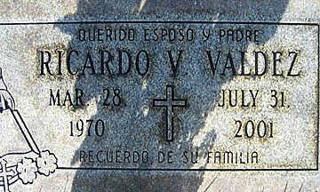 VALDEZ, RICHARDO V - Mohave County, Arizona | RICHARDO V VALDEZ - Arizona Gravestone Photos