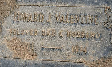 VALENTINE, EDWARD JOHN - Mohave County, Arizona | EDWARD JOHN VALENTINE - Arizona Gravestone Photos