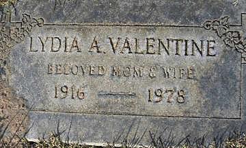 VALENTINE, LYDIA  A - Mohave County, Arizona   LYDIA  A VALENTINE - Arizona Gravestone Photos