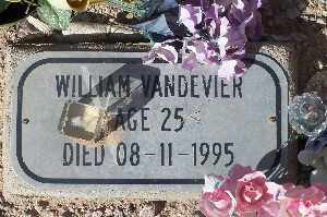 VANDEVIER, WILLIAM - Mohave County, Arizona   WILLIAM VANDEVIER - Arizona Gravestone Photos