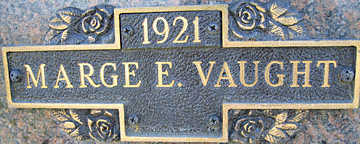 VAUGHT, MARGE E - Mohave County, Arizona   MARGE E VAUGHT - Arizona Gravestone Photos