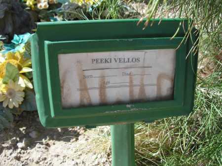 VELLOS, PEEKI - Mohave County, Arizona | PEEKI VELLOS - Arizona Gravestone Photos