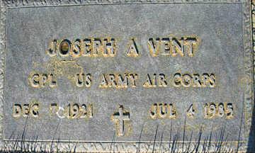 VENT, JOSEPH A - Mohave County, Arizona   JOSEPH A VENT - Arizona Gravestone Photos
