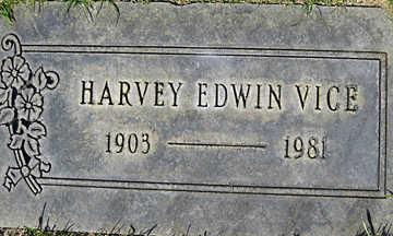 VICE, HARVEY EDWIN - Mohave County, Arizona | HARVEY EDWIN VICE - Arizona Gravestone Photos