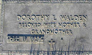 WALDEN, DOROTHY L - Mohave County, Arizona | DOROTHY L WALDEN - Arizona Gravestone Photos