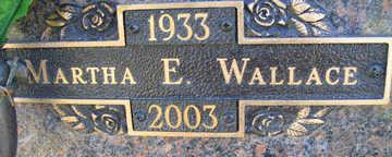 WALLACE, MARTHA E - Mohave County, Arizona | MARTHA E WALLACE - Arizona Gravestone Photos