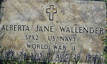 WALLENDER, ALBERTA JANE - Mohave County, Arizona | ALBERTA JANE WALLENDER - Arizona Gravestone Photos