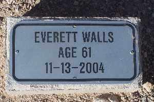 WALLS, EVERETT - Mohave County, Arizona | EVERETT WALLS - Arizona Gravestone Photos
