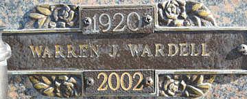 WARDELL, WARREN J - Mohave County, Arizona | WARREN J WARDELL - Arizona Gravestone Photos