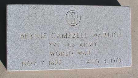 WARLICK, BERNIE CAMPBELL - Mohave County, Arizona   BERNIE CAMPBELL WARLICK - Arizona Gravestone Photos