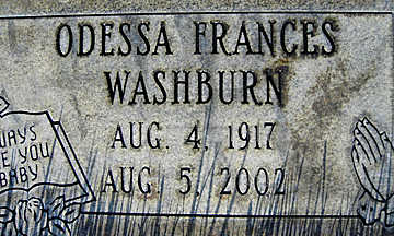 WASHBURN, ODESSA FRANCES - Mohave County, Arizona   ODESSA FRANCES WASHBURN - Arizona Gravestone Photos