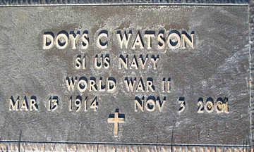 WATSON, DOYS C - Mohave County, Arizona | DOYS C WATSON - Arizona Gravestone Photos