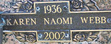 WEBB, KAREN NAOMI - Mohave County, Arizona | KAREN NAOMI WEBB - Arizona Gravestone Photos
