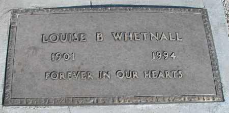 WHETNALL, LOUISE B. - Mohave County, Arizona | LOUISE B. WHETNALL - Arizona Gravestone Photos