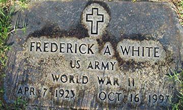 WHITE, FREDERICK A - Mohave County, Arizona | FREDERICK A WHITE - Arizona Gravestone Photos