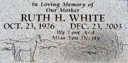 WHITE, RUTH H - Mohave County, Arizona | RUTH H WHITE - Arizona Gravestone Photos