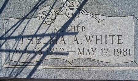 WHITE, THELMA A - Mohave County, Arizona | THELMA A WHITE - Arizona Gravestone Photos