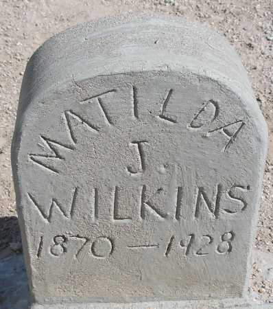 JONES WILKINS, MATILDA J. - Mohave County, Arizona | MATILDA J. JONES WILKINS - Arizona Gravestone Photos