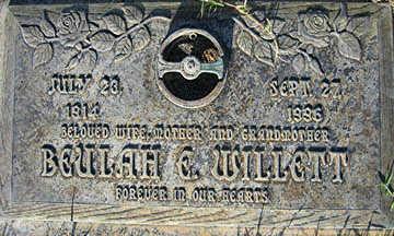 WILLETT, BEULAH E - Mohave County, Arizona   BEULAH E WILLETT - Arizona Gravestone Photos