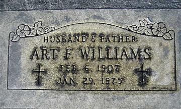 WILLIAMS, ART F - Mohave County, Arizona   ART F WILLIAMS - Arizona Gravestone Photos