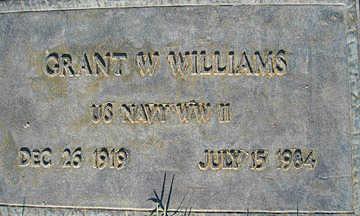WILLIAMS, GRANT W - Mohave County, Arizona | GRANT W WILLIAMS - Arizona Gravestone Photos