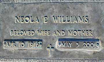 WILLIAMS, NEOLA E - Mohave County, Arizona | NEOLA E WILLIAMS - Arizona Gravestone Photos
