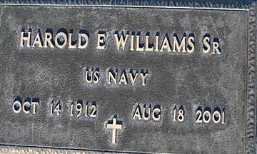 WILLIAMS SR., HAROLD E - Mohave County, Arizona   HAROLD E WILLIAMS SR. - Arizona Gravestone Photos